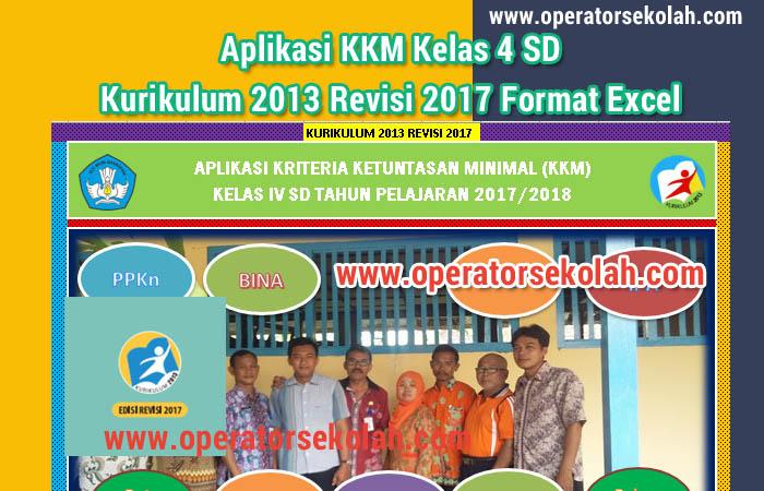 Aplikasi KKM Kelas 4 SD Kurikulum 2013 Revisi 2017 Format Excel