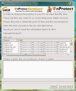 Error Lost Saga nProtect