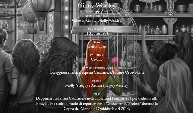 Scheda di Ginny Weasley