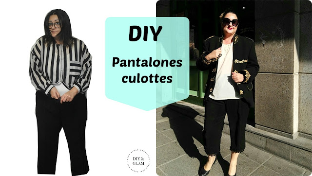 Como hacer unos pantalones culottes de unos pantalones viejos
