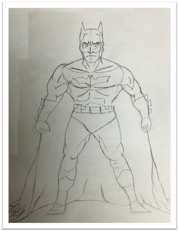 Draw Batman Cartoon