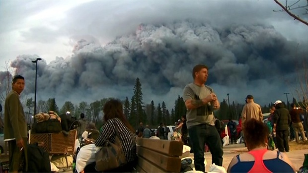 Fort McMurray Fire Update Evacuating-Alberta-fire-jpg