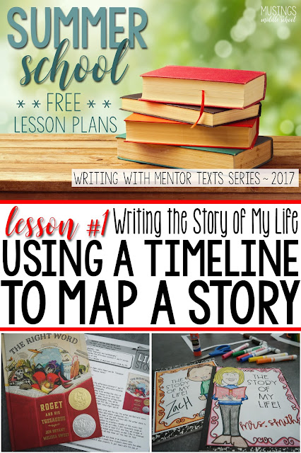 Lesson #1 of my Free Writing with Mentor Texts Summer Series. This lesson talks about using a timeline to map out a story.