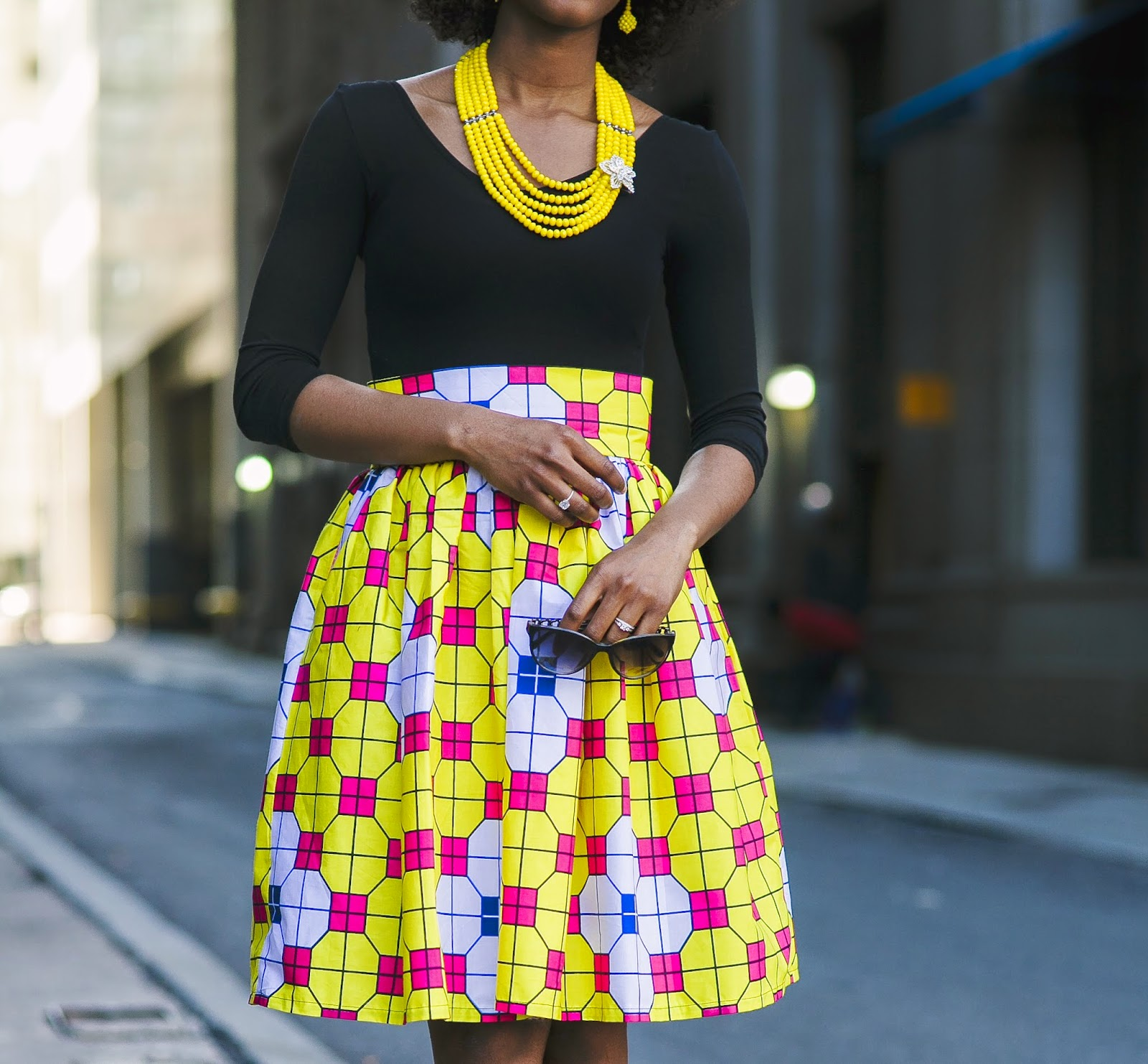 My Style Oasis, Colorful Ankara Skirt, Classy Outift