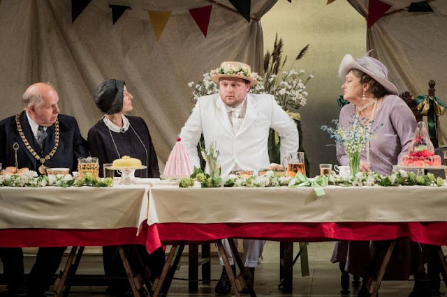 Britten: Albert Herring - The Grange Festival - Adrian Thompson, Clarissa Meek, Richard Pinkstone, Orla Boylan(photo Robert Workman)