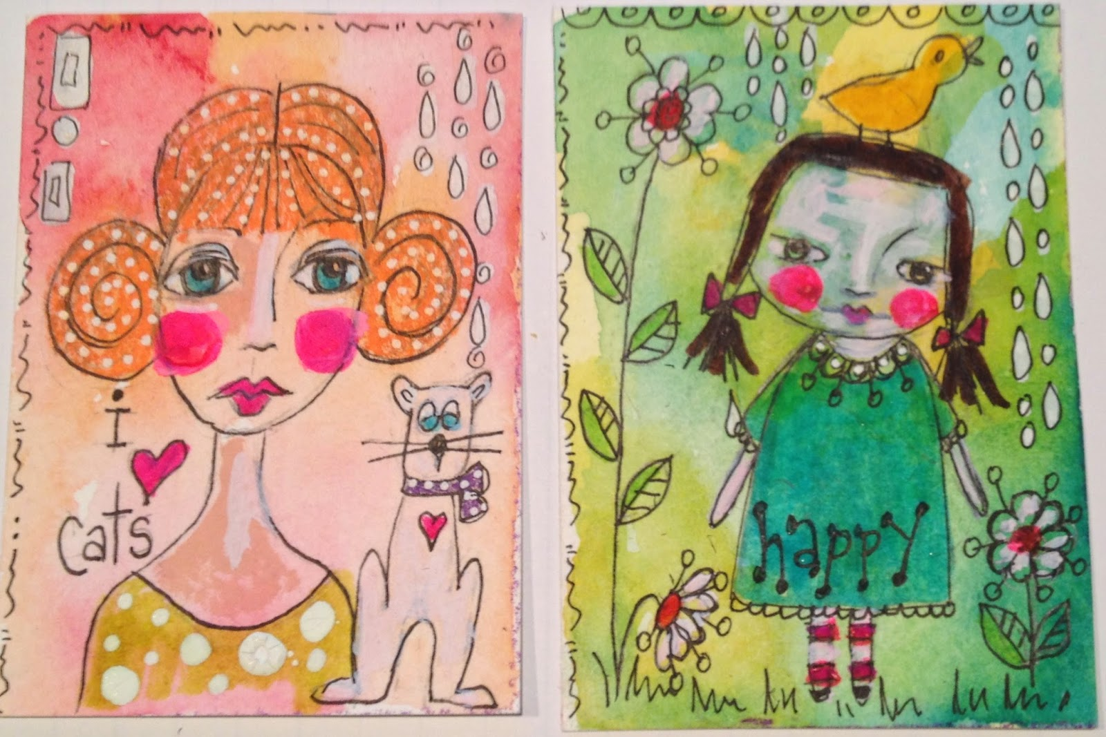 ATC cards by Jane McMahon Lazenby