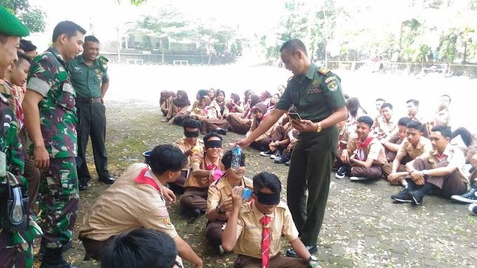 Koramil 07/Limo Gembleng Ratusan Siswa SMK Yadhika