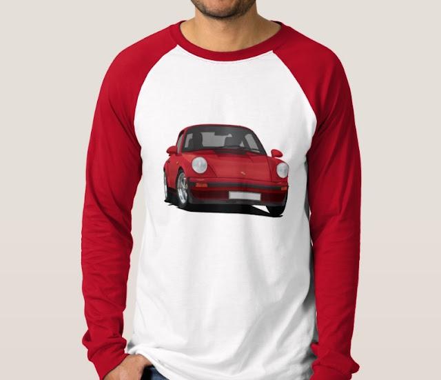 Porsche 911 sports cars long sleeve shirt