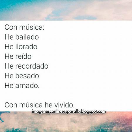 La música en mi vida es: