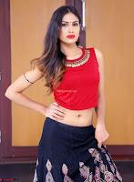 Nishi Gandha in Beautiful Red Crop Top ~  Exclusive 005.jpg