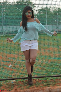 Madhulagna Das looks super cute in White Shorts and Transparent Top 30.JPG