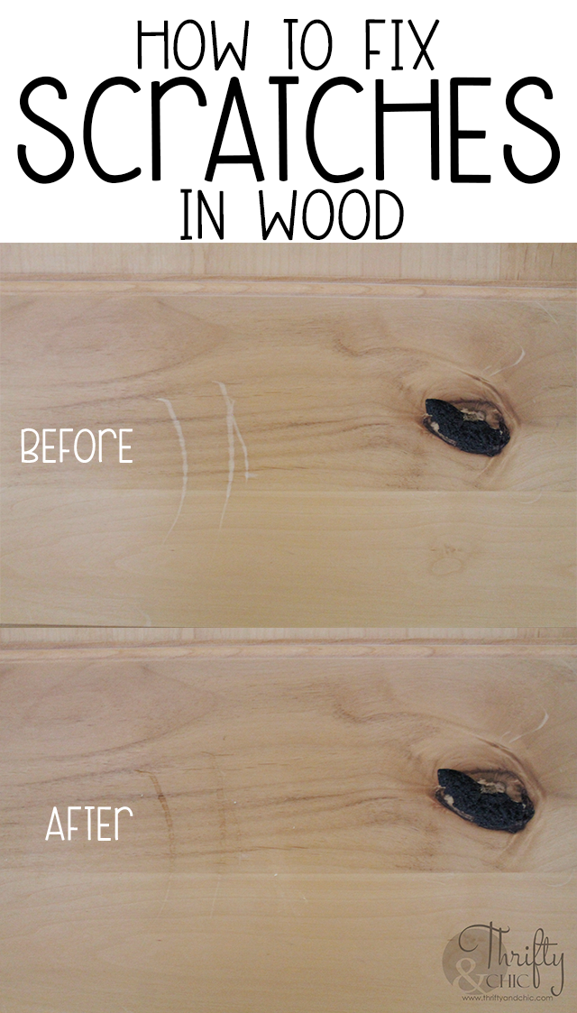 How to fix scratches in wood. The secret to removing scratches in wood. How to diminish the appearance of scratches in wood.