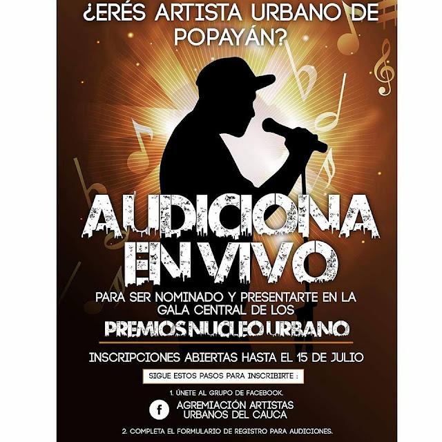 Audiciones Popayan - Cauca y sus alrededores