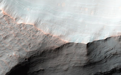Alluvial fans in the Saheki Crater, Mars