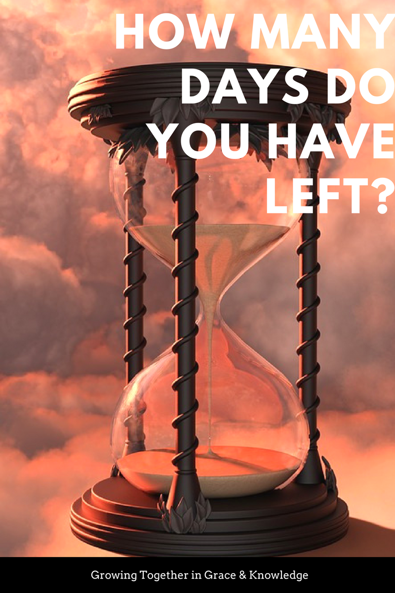 How many days do you have left?