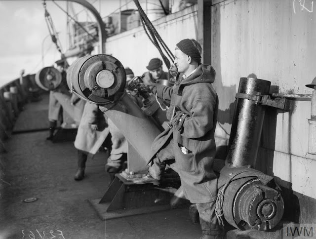 22 February 1941 worldwartwo.filminspector.com Royal Navy escort depth charge throwers