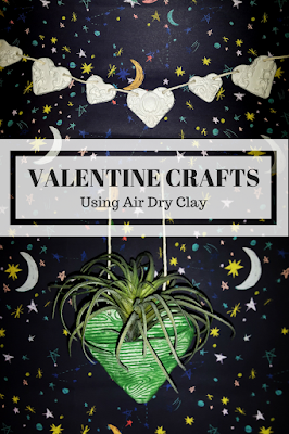 Valentines crafts using air dry clay