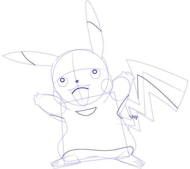 Super Simpel Menggambar Pikachu  dari Pokemon Belajar