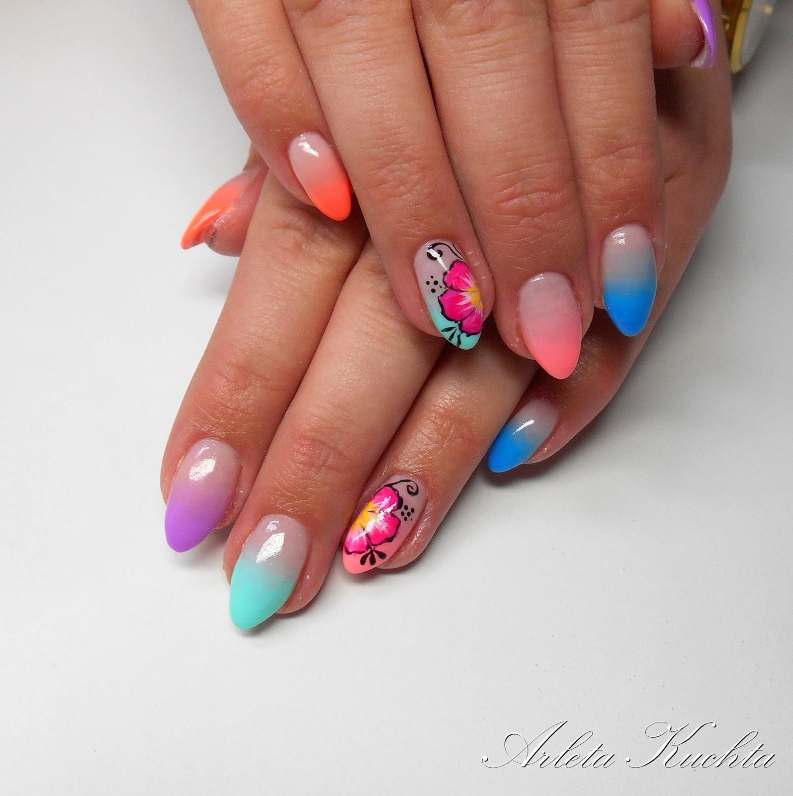 Studio Stylizacji Paznokci Butterfly Kolorowe Ombre