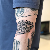 millenium falcon tattoo
