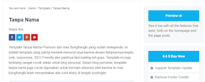Cara Membuat Live Preview dan Buy Now Di Sidebar Blogspot Seperti ThemeXpose