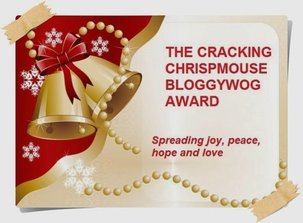 Selo The Cracking Chrispmouse Bloggywog Award