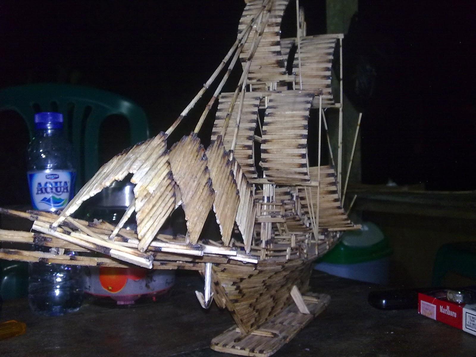 Hajimemashite, Poppy Angel: Kapal terbuat dari Kayu Korek ...