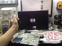 Service Laptop HP Compaq CQ41 Intel No display / Tidak ada tampilan di layar laptop