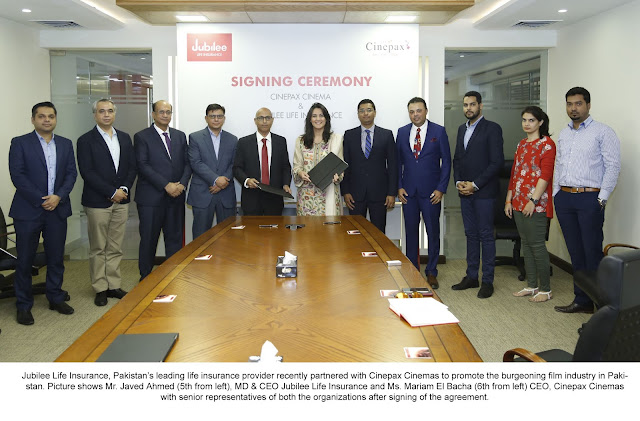 Jubilee Life Insurance teams up with Cinepax to support Pakistani Cinema
