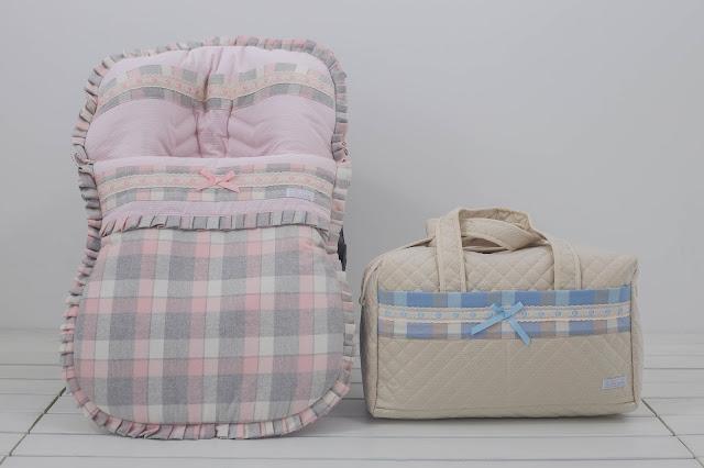 bolsa de maternidad paño cuadros
