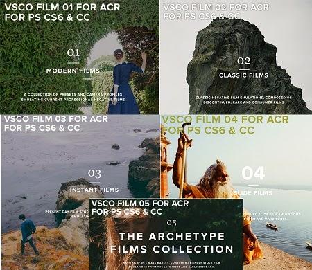 VSCO Film Bundle (Pack 01-05) for Adobe Camera Raw 7 & 8