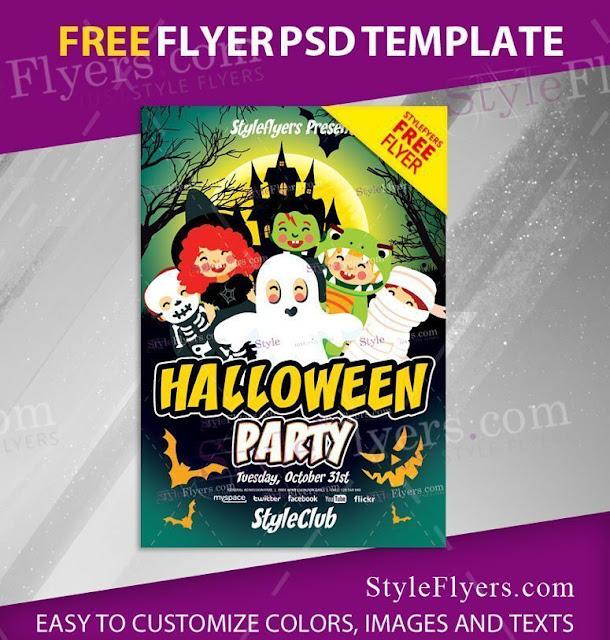 plantilla para invitacion de fiesta de disfraces infantiles o de halloween