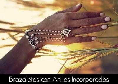 Como hacer 6 brazaletes con anillos incorporados