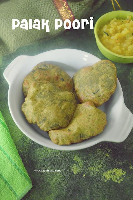 Palak Poori Recipe   How to make Spinach Poori