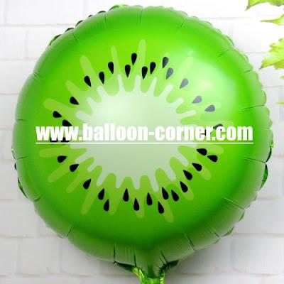Balon Foil Potongan Buah Kiwi
