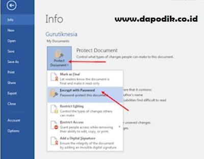 Cara Membuat Password Pada File Microsoft Word (Membuat File Menjadi Aman Agar Tidak di Curi Tetanggamu)
