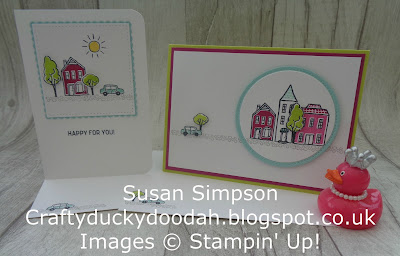 Stampin' Up! UK Independent  Demonstrator Susan Simpson, Craftyduckydoodah!, In The City, August Coffee & Cards Project 2017, Supplies available 24/7 from my online store,