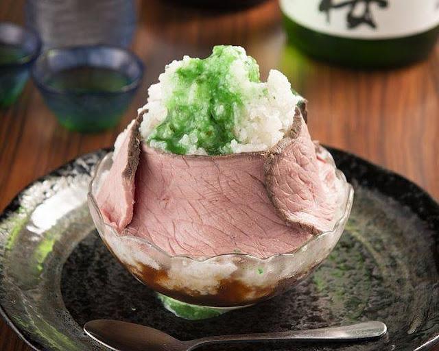 Swan鵝牌極致鵝絨日式刨冰 鵝絨雪花冰 #怪奇鵝絨冰(1):醬油、和牛、香菜...-swan-kakigori-post-unexpected-flavoring-kakigori-beef-soysauce-coriander-roastedbeefricebowl-Toroniku