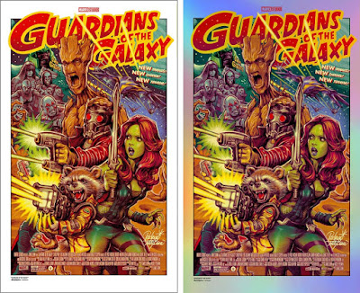 New York Comic Con 2018 Exclusive Guardians of the Galaxy Movie Poster Screen Print by Rockin' Jelly Bean x Bottleneck Gallery x Marvel