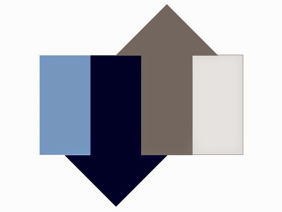 color scheme of smoky blue, pearl grey, navy and grey