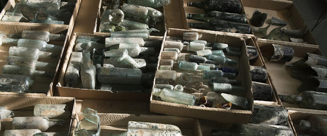 Hundreds of Liquor Bottles belonging to British Soldiers from World War I were Exposed near Ramla