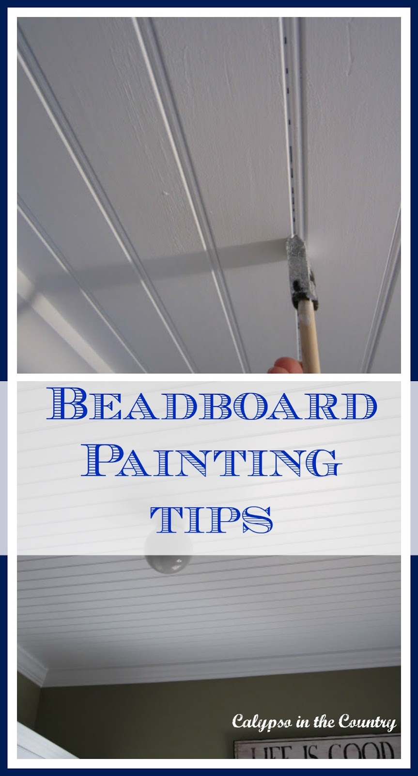 How to Paint Beadboard - Beadboard Ceiling Painting Tips