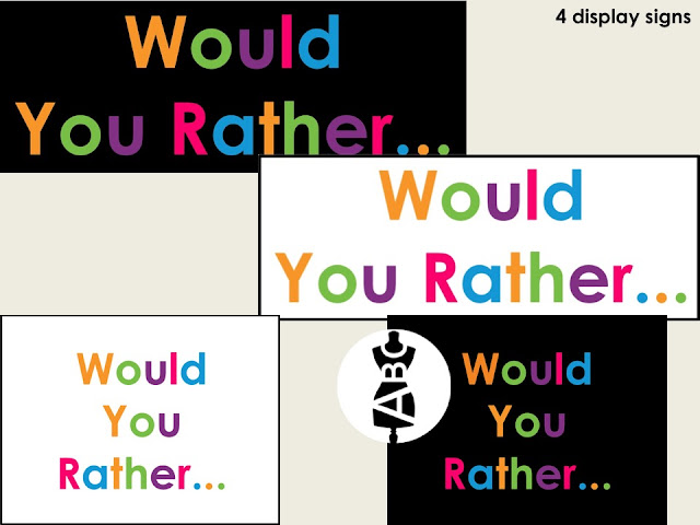 would you rather for K-1