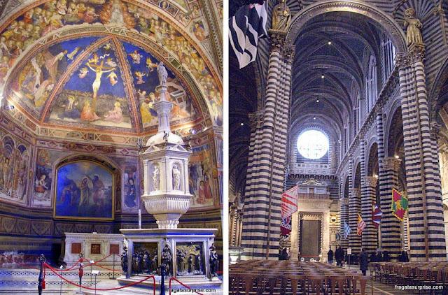 Interior da Catedral de Siena, Itália