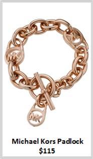 Sydney Fashion Hunter - Rose Gold - Michael Kors Padlock Bracelet