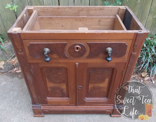 How to Turn an Old Dry Sink into a New Dry Bar!
