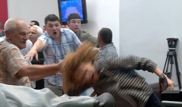 Moment of violence in Macedonian Parliament