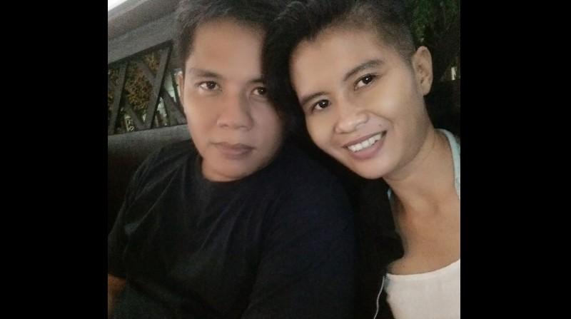 Pahinggar Indrawan dan istrinya, Dina Febrianti