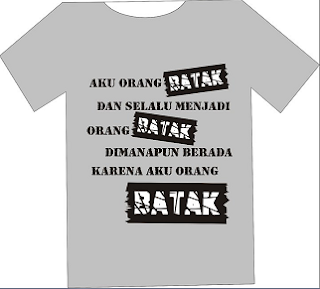 kaos batak warna cream
