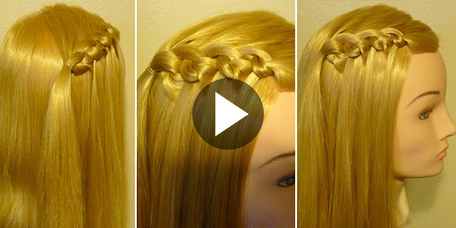 How To Make Easy Flip Knot Waterfall Feather Braid Hairstyle, See Tutorial